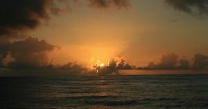 Soloppgang i Karibien