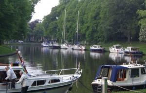 Idyllisk   havn i Leeuwarden