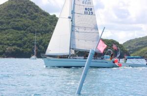 Målgang i Rodnet Bay