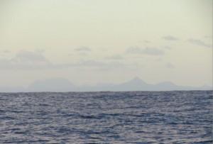 1. glimt av land etter 18 dager på Atlanterhaveet